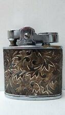 VINTAGE ENGRAVED SILVER METAL CASED PENGUIN JAPAN POCKET LIGHTER