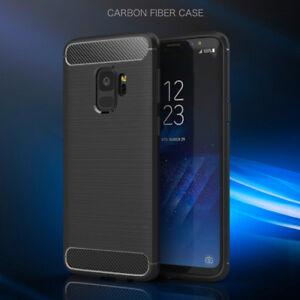 Soft Carbon Slim Gel Shockproof TPU Silicone Plastic Case Cover Samsung A8  2018
