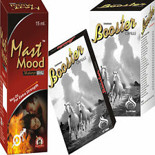 Herbal Treatment For Male Impotence Problem 6 Mast Mood Oil + 120 Booster Pills