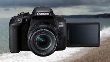 Canon EOS 800D / Rebel T7i Digital SLR with 18-55 is STM Lens Black
