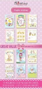 Pack 12 Easter Cards Cute Bunny chick Happy Easter Greeting Card Packs religious
