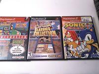 PS2 Classics Game Lot: Namco Museum Capcom + Sonic Mega Collection PlayStation 2