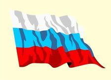Autoaufkleber Sticker Fahne Russland Flagge Aufkleber