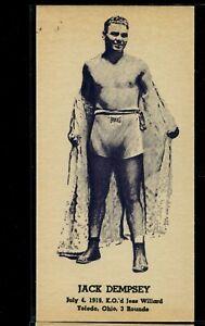 1947 Kid Herman Heavyweight Champs Jack Dempsey rare thick stock, narrow card