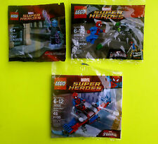 LEGO 3x MARVEL SUPER HEROES 30302 30305 Electro Spider Man Glider POLYBAG OVP