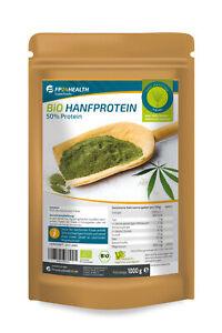 FP24 Health Bio Hanfprotein 1kg - EU Anbau - Hanf Eiweiss - 1000g - Vegan