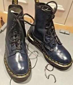 Vintage Dr Martens 1460 blue leather boots UK 3 EU 36 Made in England