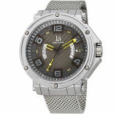 Joshua & Sons JX13YL Quartz Multifunction Blue Dual Date Wheel Stainless Steel
