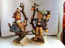 "M. J. Hummel  Apple Tree Girl and Boy Figurines 101/2"""