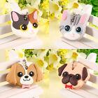 Creative 1Pcs Cute Puppy Pug Cat Key Cover Cap Keychain Key Ring PVC Unisex Gift