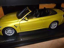 BMW M4 Convertible F83 1:18 scale Model Miniature Car Yellow 80432339611  OEM