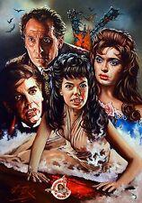 SPOSE DI DRACULA/Hammer Horror/pesi massimi Rick in Melton fine art print