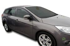 DFO15296 FORD FOCUS mk3 ESTATE 2011- up WIND DEFLECTORS 4pc HEKO TINTED