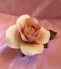 Boehm Queen Elizabeth Rose Pink Porcelain & Bronze Flower