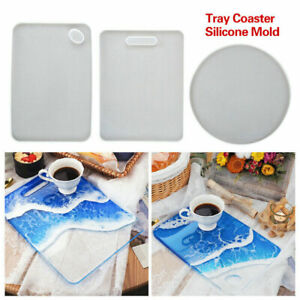 Silicone Coaster Cutting Board Casting Resin Mold Epoxy Fruit Mould Tray Craft