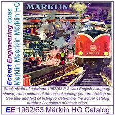 EE 1962/63 E $ Marklin HO Catalog 1962 Picture of V200 Diesel Lok LN Condition
