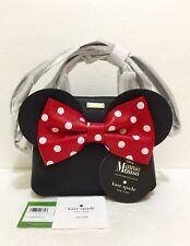 New Kate Spade Disney Minnie Mouse MINI Minnie Maise Bag Purse Black PXRU6512