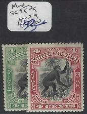 NORTH BORNEO  (PP1912B)  4C  MONKEY  SG 98-9    MOG