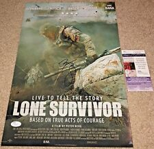 MARK WAHLBERG SIGNED LONE SURVIVOR 12X18 MOVIE POSTER PHOTO TED TRANSFORMERS JSA