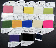 13xNeedlepoint/Embroidery THREAD RG Petite&Very Velvet+SuperSuede-YX50