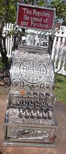 Nickle model 5 scroll prof. restored cash register glass top sign