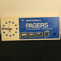 Motorola Pager Advertising Clock Hook And Loop Attach On Pagers Battery Powered