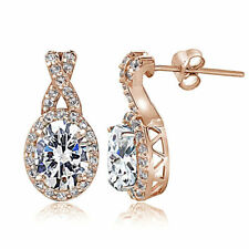 Cubic Zirconia Gold Simulated Fine Earrings