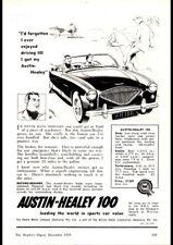 """1956 AUSTIN HEALEY 100 BMC AD A4 POSTER GLOSS PRINT LAMINATED 11.7""""x8.3"""""""