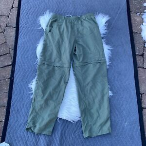 Columbia PFG Backcast Convertible Pant Green Short Pant Outdoor Size M 30 L