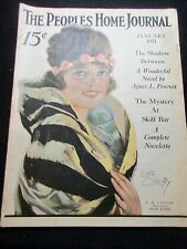 1/1921 PEOPLES HOME JOURNAL MAGAZINE EARL CHRISTY COVER VICKS AD FASHION