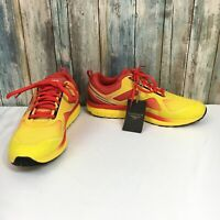 Turner T Legacy Mens 7 Yellow Orange Lightweight Lace Up Running Shoes