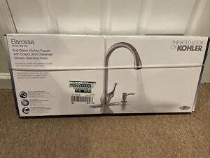 New Kohler Barossa Stainless Single-Handle Pull-Down Spray Kitchen Faucet