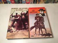 Lee Van Cleef Western Action VHS Lot of 2 Captain Apache & El Condor Jim Brown