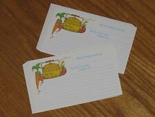 vtg Current Recipe Cards - Heres Whats Cookin - carrot radish apple 15ct