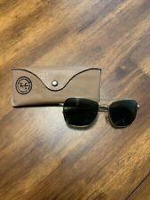 Vintage Ray-Ban Caravan Sunglasses Gold Frame