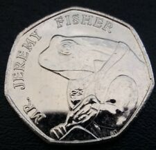 Me Jeremy Fisher uncirulated 50p moneda en perfectas condiciones libre cápsula de moneda