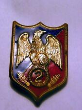ancien insigne obsolète militaire gendarmerie 2 eme régiment garde