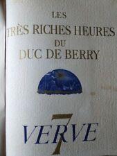 Verve N° 7 - Les très riches heures du duc de Berry 1940-1943 TTB