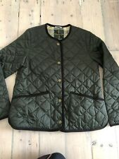Used Barbour Oversized Liddesdale Jacket Ladies Olive Green size  UK 10 RRP £169