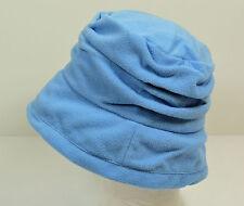 New Women Winter Crusher Fleece Bucket Hat - Blue 2