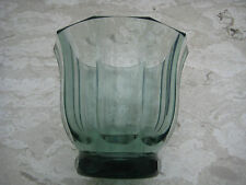 Glas Vase Jugendstil Schliff HAIDA Werkstätte Künstlerglas 1900 Wien Moser Pokal