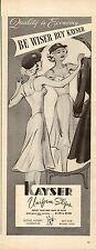 1942 WW2 lingerie Ad  KAYSER UNIFORM SLIPS sexy art ! 052515