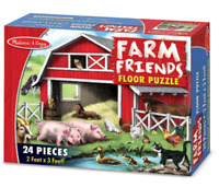 Melissa & Doug Farm Friends Floor Puzzle - 24 Pieces