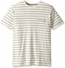 $34 NEW RIP CURL Danny Crew Pocket Off Wht T SHIRT LARGE 100% Cotton Stretch HH2