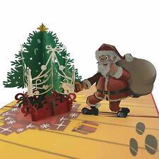 Santa Deliverying Presents 3D pop up Christmas card