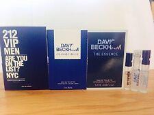 Carolina Herrera,David Beckham Essence And David Beckham Pocket Size Samples X3