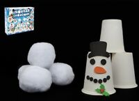 Snowman Pyramid Cup Challenge Game Stacking Game Christmas Kids Fun Activity