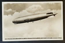 1930 Germany Teplitz Schönau LZ127 Zeppelin Straubing Flight RPPC Airmail Cover
