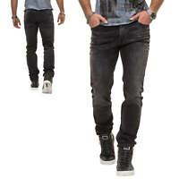 Jack & Jones Herren Slim Fit Jeans Denim Herrenhose Used Look Casual Black NEU