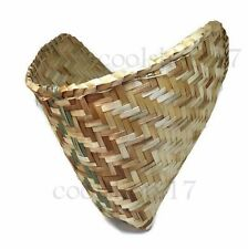 2 x Thai Lao Sticky Rice Steamer Baskets Hand-Woven Bamboo Cookware Kitchen Tool